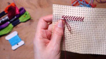 hand embroidery herringbone stitch